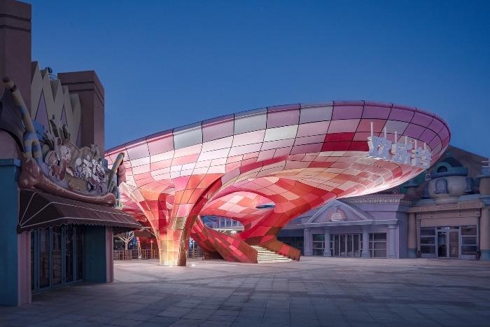 Un parc d'attraction chinois fait fabriquer le plus grand pavillon imprimé en 3D au monde