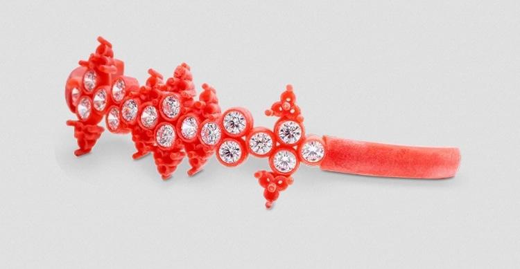 3D Systems fait progresser la conception de bijoux grâce à sa nouvelle cire VisiJet® Wax Jewel Red