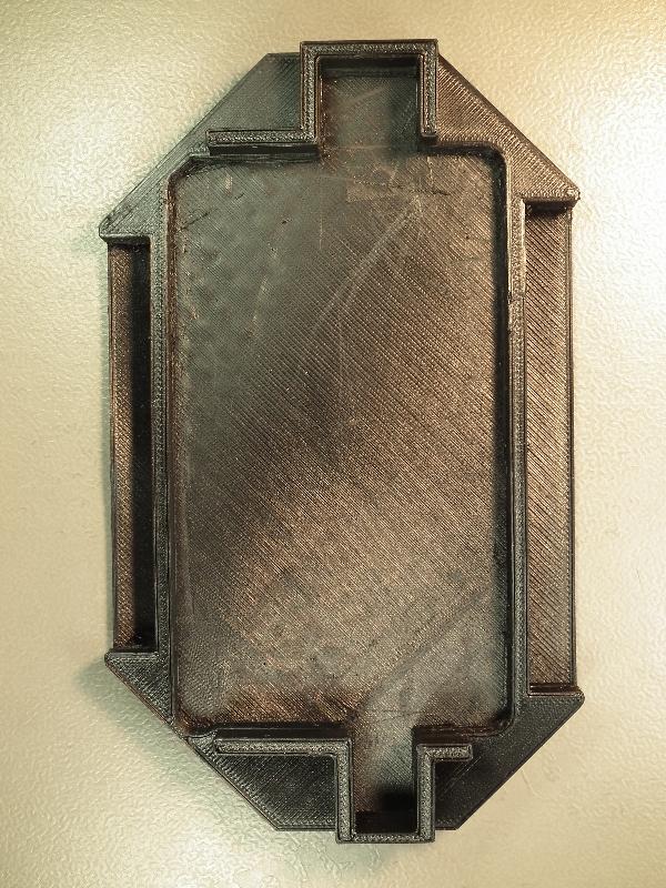 Gabarit de protection imprimé en TPC anti ESD / 120 mm x 60 mm