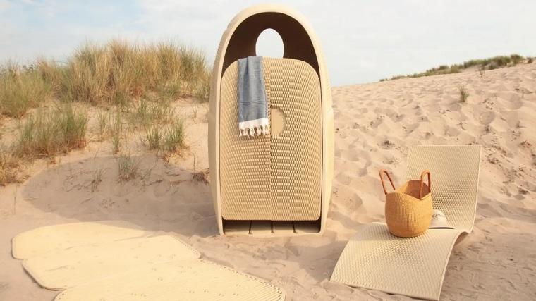Quand l'impression 3D transforme des déchets plastiques en meubles de plage chics et raffinés