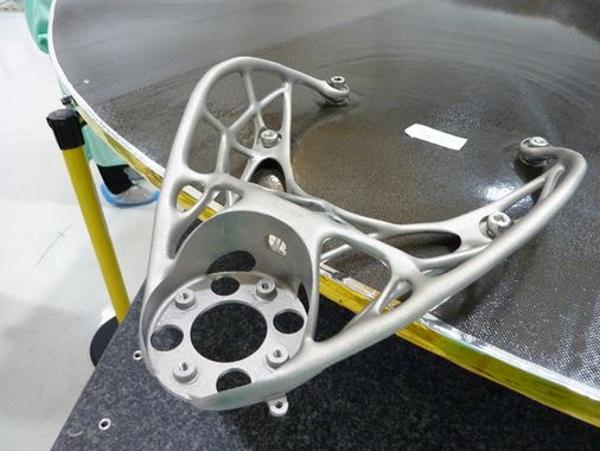 Support de satellite imprimé en en aluminium