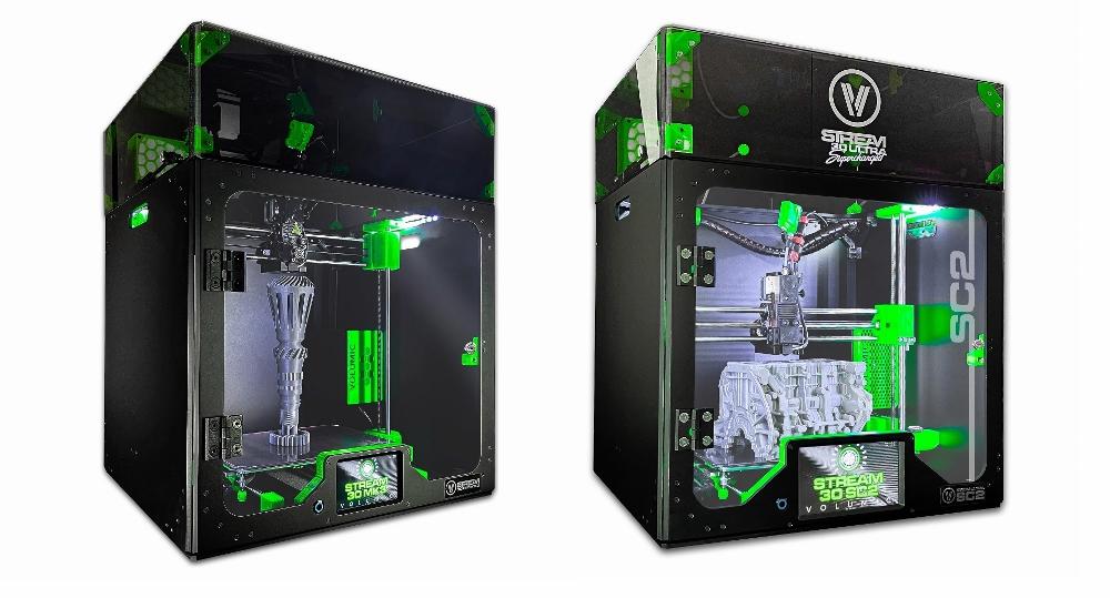 Imprimantes 3D Pro MK3 et Stream Ultra Supercharged 2 avec l'option capot